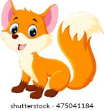cute fox cartoon | Shutterstock .eps vector #475041184
