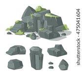 Stones And Rocks Cartoon Natur...