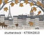 paris  france in autumn   hand... | Shutterstock .eps vector #475042813