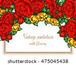 vintage delicate invitation... | Shutterstock .eps vector #475045438