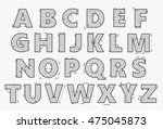 alphabet in style of a... | Shutterstock .eps vector #475045873