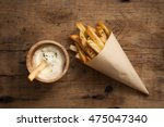 fries french sour cream still... | Shutterstock . vector #475047340