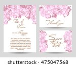abstract flower background with ... | Shutterstock .eps vector #475047568