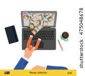 concept of attracting... | Shutterstock .eps vector #475048678
