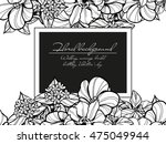 invitation with floral... | Shutterstock .eps vector #475049944