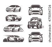 car icons set suv sedan 4x4... | Shutterstock .eps vector #475054726