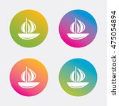 sail boat icon. ship sign.... | Shutterstock .eps vector #475054894