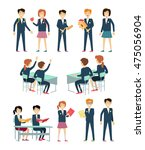 set of school education... | Shutterstock .eps vector #475056904