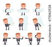 set of smart and funny... | Shutterstock .eps vector #475063528