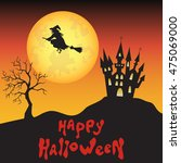 Halloween  Witch   Castle  And...