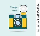 retro colorful camera icon.... | Shutterstock .eps vector #475069384