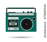 retro colorful radio icon....   Shutterstock .eps vector #475069444