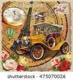 Stock vector paris vintage poster 475070026