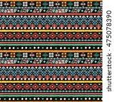 ethnic seamless pattern. boho... | Shutterstock .eps vector #475078390