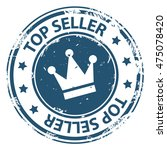 top seller round rubber stamp... | Shutterstock .eps vector #475078420