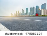 clean city road shanghai china.   Shutterstock . vector #475083124