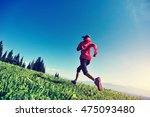 fitness young woman trail... | Shutterstock . vector #475093480