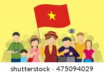 vietnamese tourists and tour... | Shutterstock .eps vector #475094029