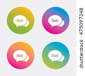 speech bubble sale sign icon.... | Shutterstock .eps vector #475097248