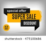 sale banner design. discount... | Shutterstock .eps vector #475100686