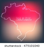 beautiful hand drawn outline... | Shutterstock .eps vector #475101040