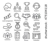 business management icons in... | Shutterstock .eps vector #475104118