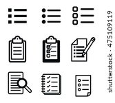 list vector icons. simple...