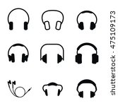 headphones vector icons. simple ...