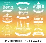 set of vintage travel badges... | Shutterstock .eps vector #475111258