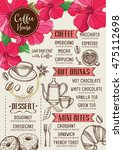 coffee restaurant brochure ... | Shutterstock .eps vector #475112698