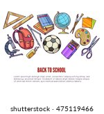 back to school supplies and... | Shutterstock .eps vector #475119466