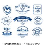 back to school typography... | Shutterstock .eps vector #475119490