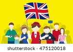 british tourists and tour guide ... | Shutterstock .eps vector #475120018