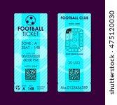 football  soccer ticket flat... | Shutterstock .eps vector #475120030