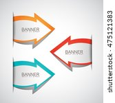 arrows banner set   isolated on ... | Shutterstock .eps vector #475121383