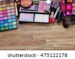 brushes  lipsticks  maskara ...   Shutterstock . vector #475122178