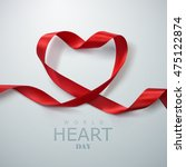 world heart day background.... | Shutterstock .eps vector #475122874