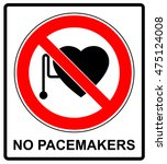 no access with cardiac... | Shutterstock .eps vector #475124008