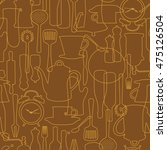 pattern of tableware  | Shutterstock .eps vector #475126504