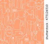 pattern of tableware    Shutterstock .eps vector #475126510
