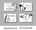makeup artist business card.... | Shutterstock .eps vector #475133749