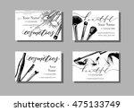 makeup artist business card.... | Shutterstock .eps vector #475133749