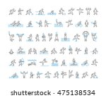 linear symbol of sportsmen.... | Shutterstock .eps vector #475138534