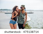 portrait of romantic young... | Shutterstock . vector #475138714