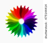 colorful abstract flower.... | Shutterstock .eps vector #475144414