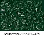 back to school themed doodle...   Shutterstock .eps vector #475149376