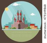 cityscape. medieval castle in... | Shutterstock .eps vector #475149868