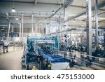 industrial interiors. robotic... | Shutterstock . vector #475153000
