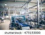 industrial interiors. robotic... | Shutterstock . vector #475153000