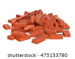 Pile Of Bricks Isolated On...
